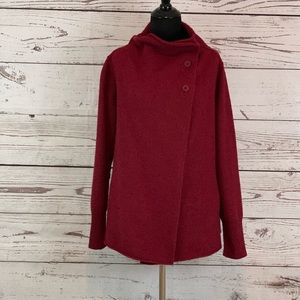 EILEEN FISHER  Poncho Sweater Cape Jacket